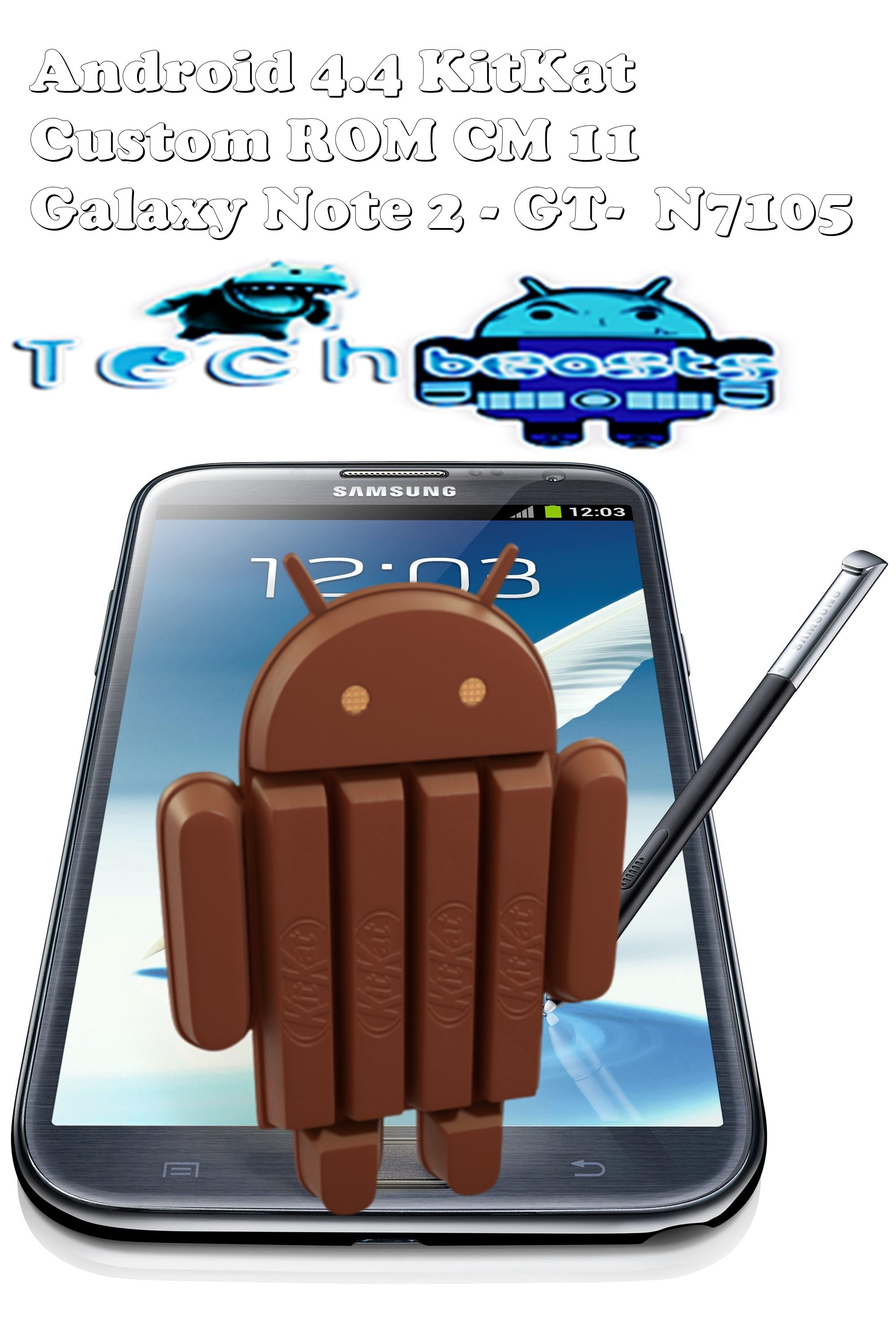Install Android 4 4 KitKat on Samsung Galaxy Note 2 GT-N7105