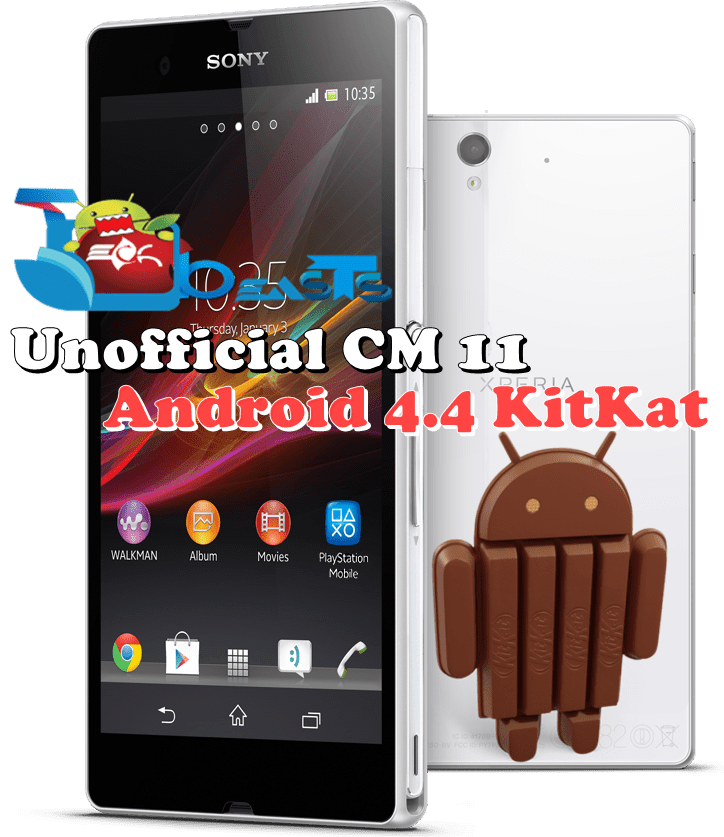 Install Android 4 4 KitKat CM 11 based custom ROM on Sony Xperia Z