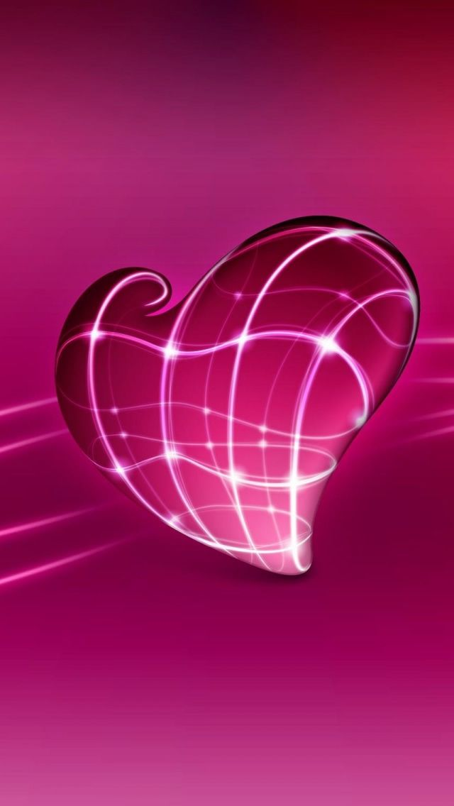 3d-Pink-Heart-iPhone-5-Wallpaper