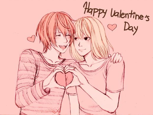 Happy-Valentines-Day-14-February-2014-Romantic-Couple-in-The-Pink-Wallpapers1
