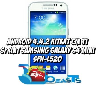 Update Sprint Samsung Galaxy S4 Mini to Android 4 4 2 KitKat with CM