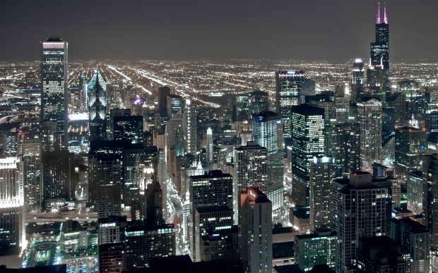 chicago-night-city-architecture