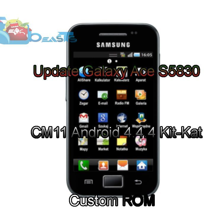 Update Galaxy Ace S5830 to CM11 Android 4 4 4 Kit-Kat Custom ROM