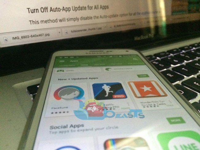 Turn Off Auto-App Update from Google Play Store
