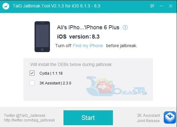Jailbreak iOS 8.3 Using TaiG