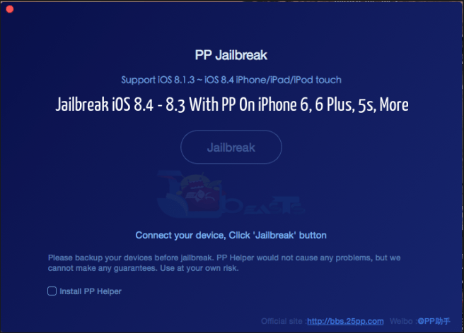 Jailbreak iOS 8.4 - 8.3 With PP On iPhone 6, 6 Plus, 5s, More