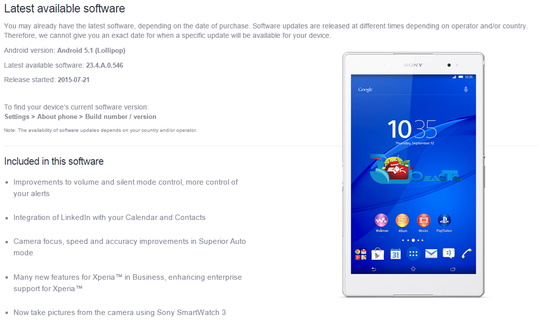 Update Xperia Z3 Tablet Compact SGP-611, 612, 621 To 23 4 A
