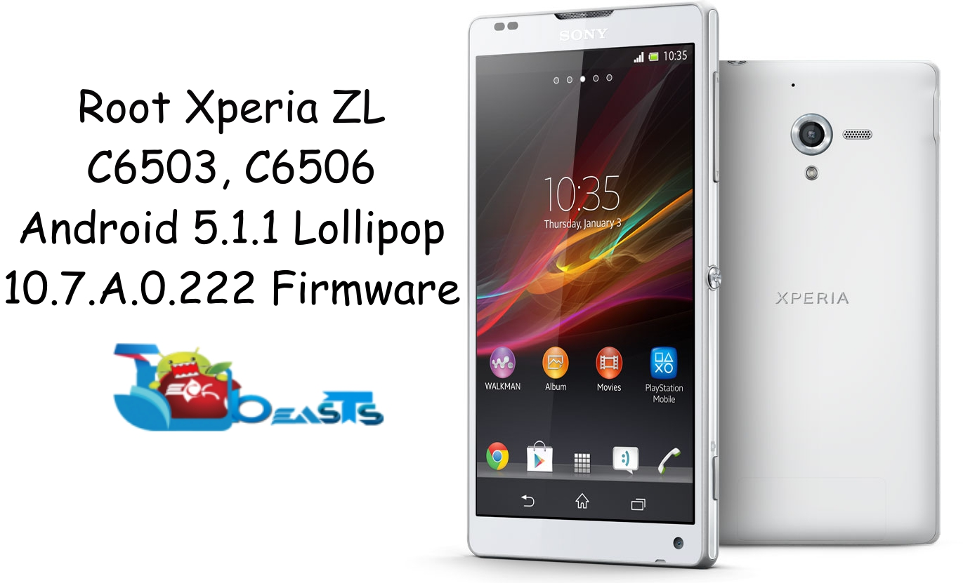 Root Xperia ZL On Android 5 1 1 Lollipop 10 7 A 0 222 Firmware