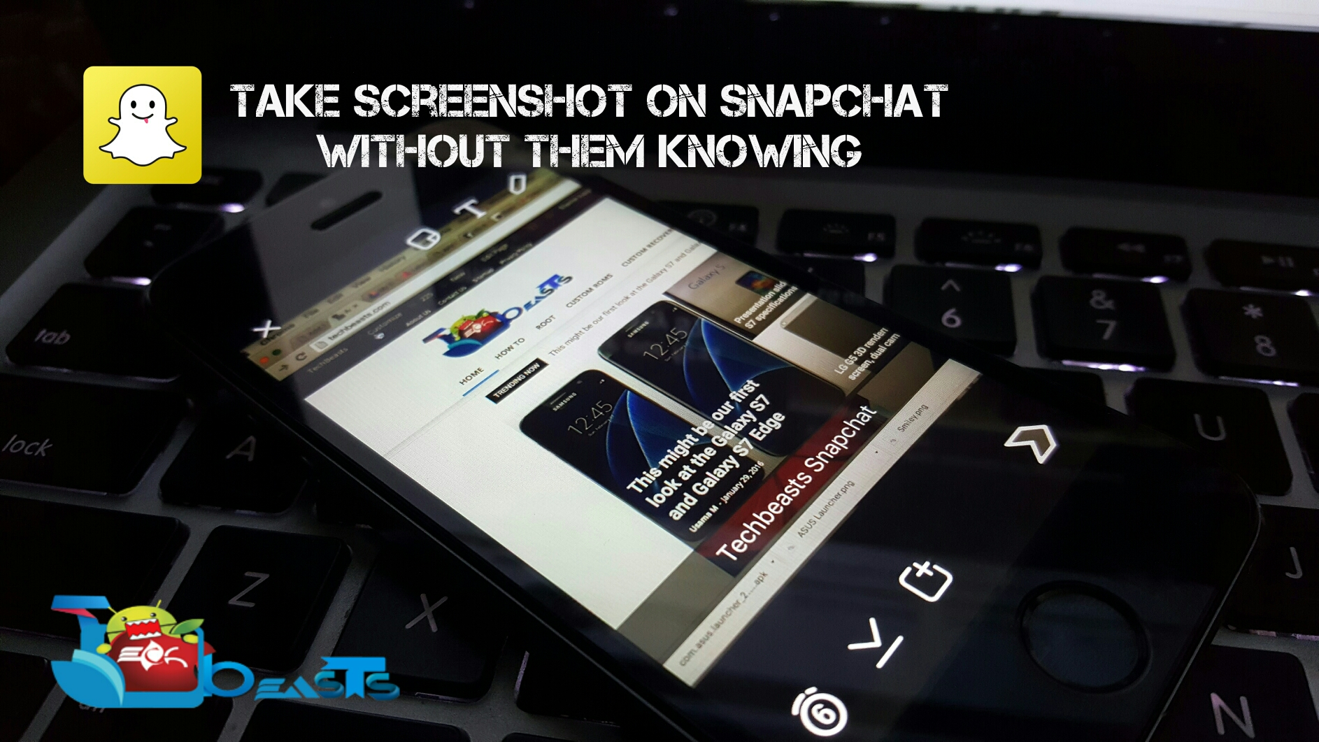 take screenshot on Snapchat without them knowing.