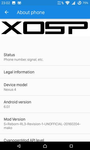 How to Install XOSP S+ Reborn Release 3 6.0.1 on LG Nexus 4