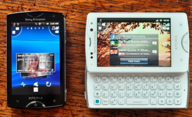 Xperia Mini vs Xperia Mini Pro