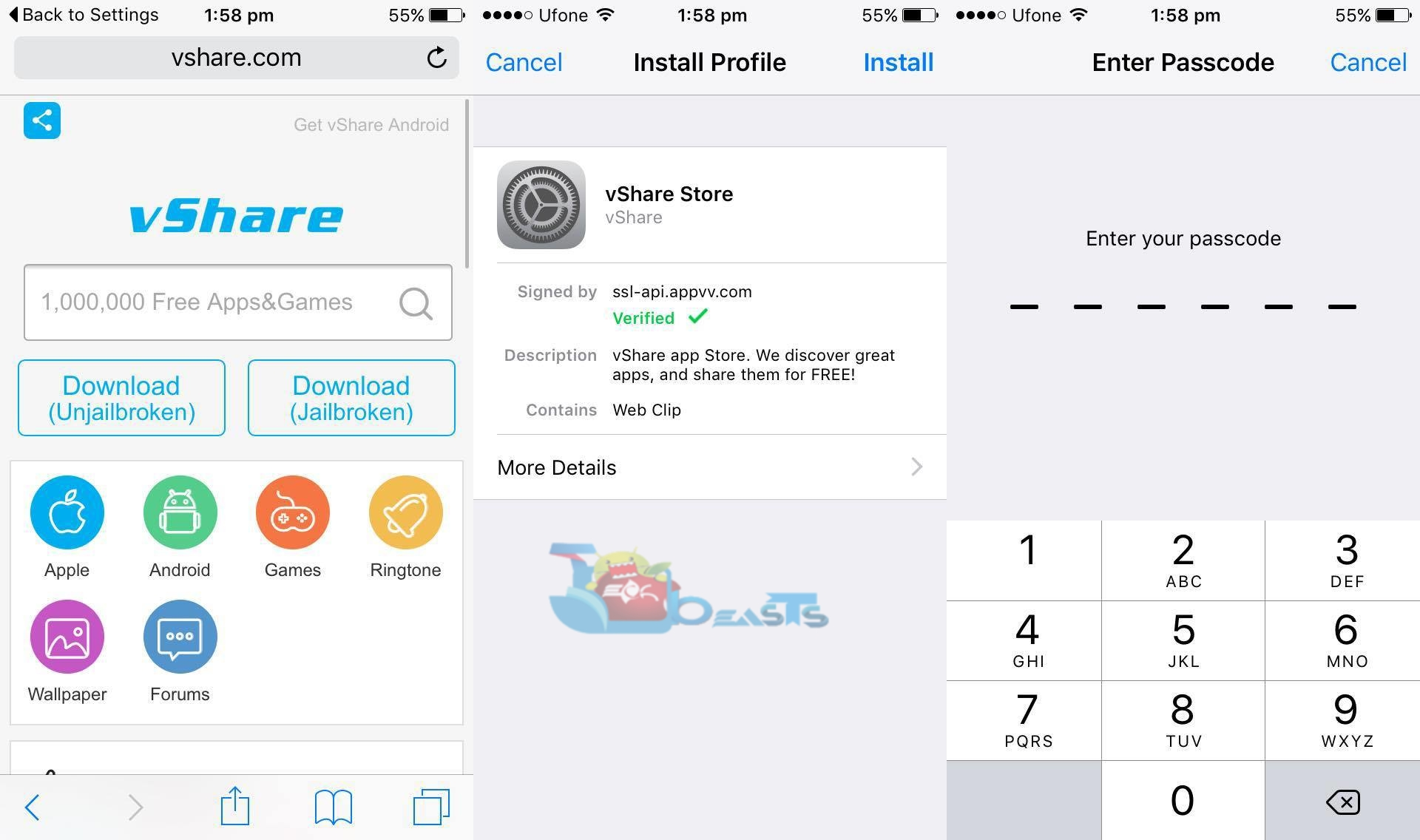 how to download vshare on iphone