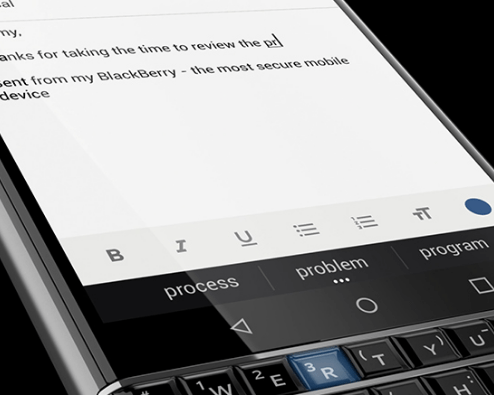 Distinctly Different' BlackBerry KEYone now Official