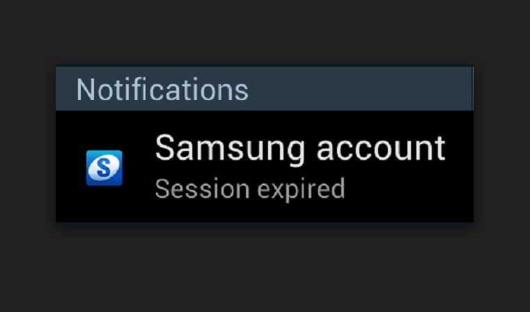 Samsung account session expired s9