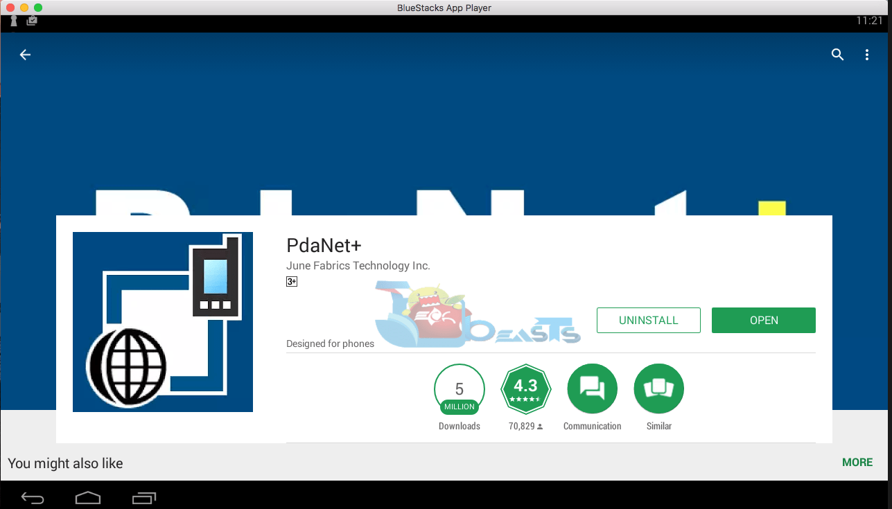 PdaNet+ for PC Download Windows 8,7,10/Mac