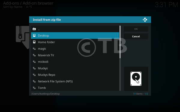 Install Ganool Add-on Kodi 17.3 Krypton