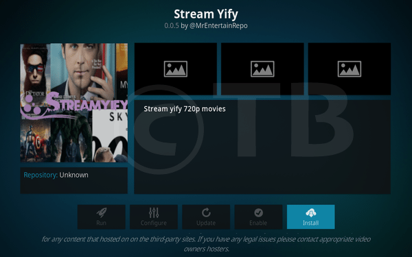 Stream YIFY Add-on For Kodi