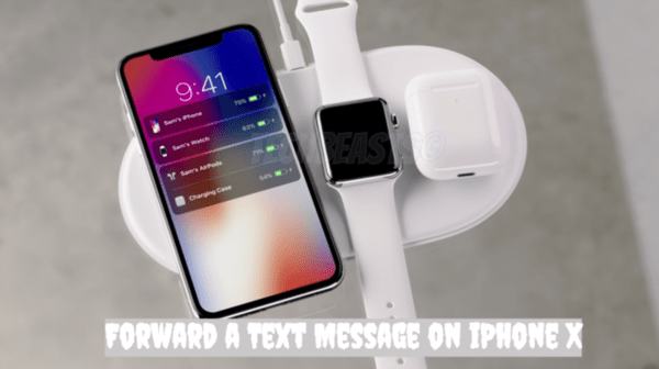 Forward a Text Message on iPhone X