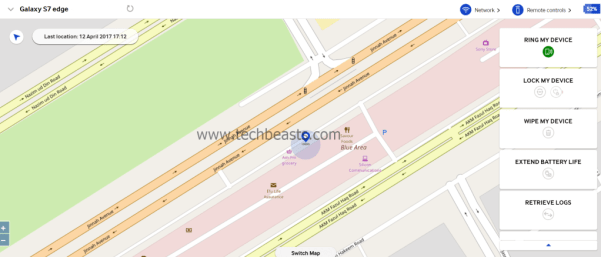 locate lost S9 or S9 Plus using Samsung's Find My Mobile