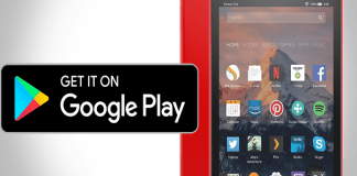 Google Play Store on Amazon Fire HD 8 tablet