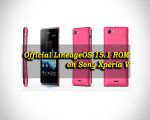 Install Official LineageOS 15.1 ROM on Sony Xperia V