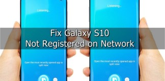 Galaxy S10 Not Registered on Network
