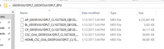 Galaxy A70 Firmware files