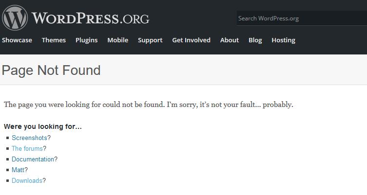 404 error possible solution