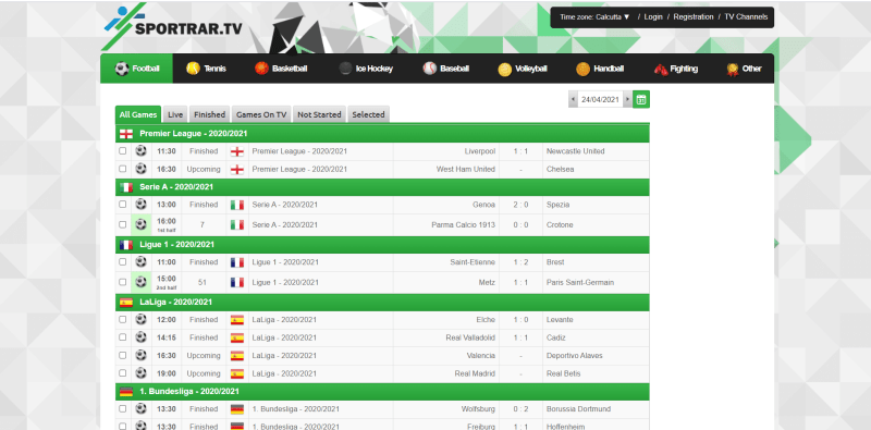 SportRAR (Best Free Sports Streaming Sites)