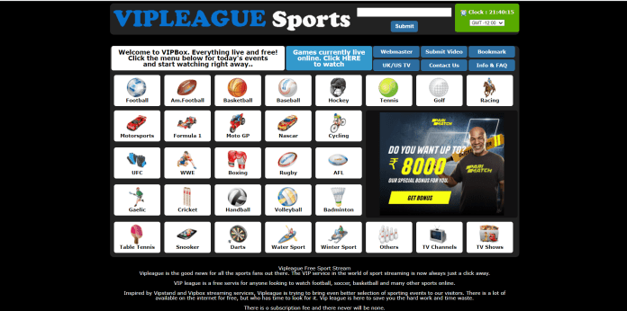 VIPLeague (Free Sports Streaming)