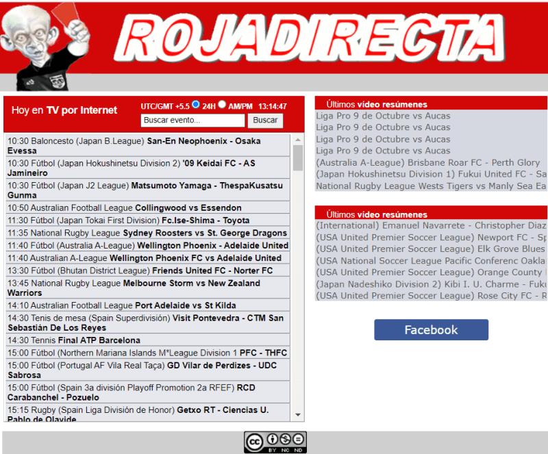 Roja  Directa (Free NFL Streaming Sites)