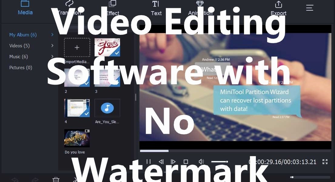 Free Video Editing Software with No Watermark