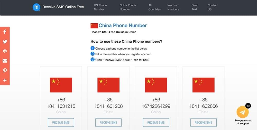 中國大陸手機號碼驗證代收簡訊網站推薦 - USA-Phone-Number