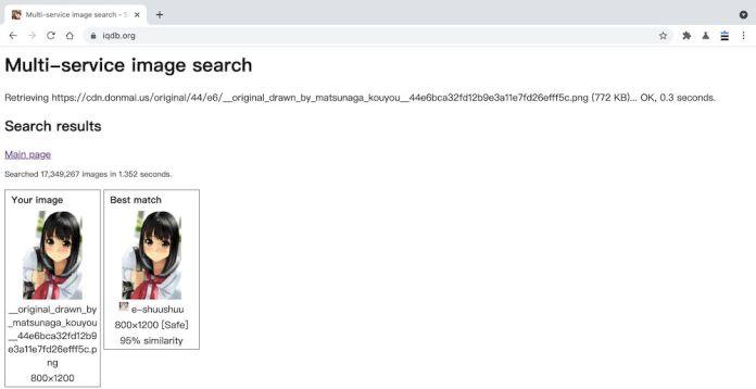 IQDB以圖找圖功能教學 - 搜尋結果