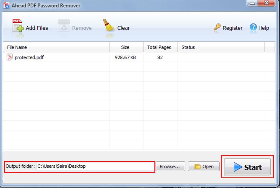 pdf password removal