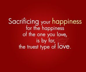 love sacrificing