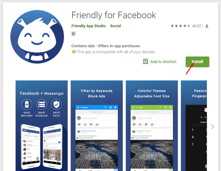 friendly for facebook apps