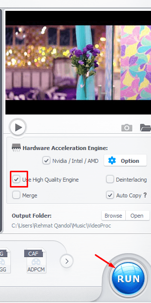 Click on run button