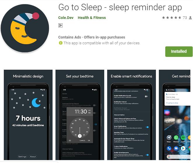 Go To Sleep App