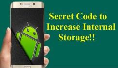 Increase Internal Storage