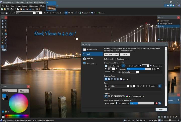 Paint.net software