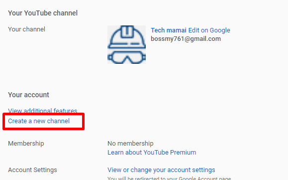 Create a new channel