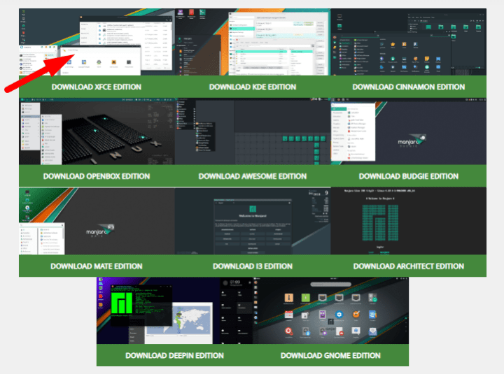 how to download manjaro linux latest version