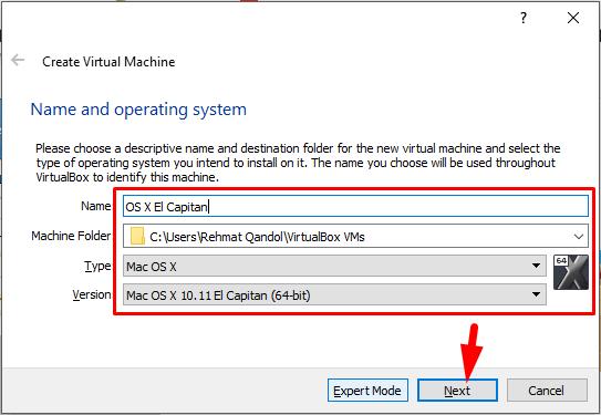 how to install mac os x el capitan on virtualbox on windows