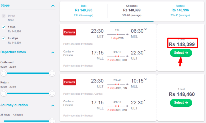 how to book a flight on skyscanner