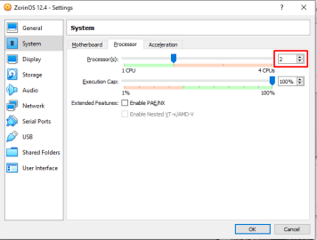 Customize the created VM system