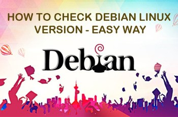 how to check debian linux version - easy way