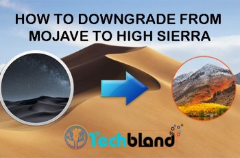 how to downgrade from mojave to high sierra