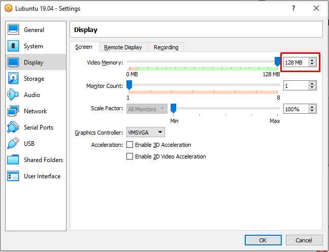 Customize Display Setting