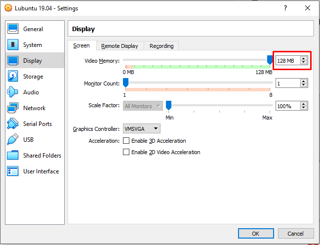 Customize Display Setting